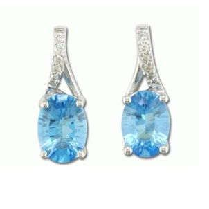 Blue Topaz, Decembers Birthstone Blue-Topaz-and-Diamond-Earrings-57