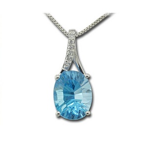 Blue Topaz, Decembers Birthstone Blue-Topaz-and-Diamond-Pendant-3