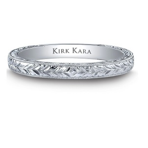 April Birthstone of the Month - Diamond Hand-engraved wedding band-61