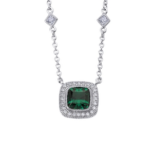 The Emerald: The Jewel of the Ancient World Regal-Cushion-Pendant-Lab-Grown-Emerald-Simulated-Diamonds-72