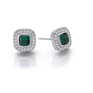 The Emerald: The Jewel of the Ancient World Regal-Cushion-Studs-Lab-Grown-Emerald-Simulated-Diamonds-98