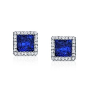 The Different Kinds of Sapphire, Septembers Birthstone Simulated-Diamond-Lab-Grown-Sapphire-Stud-Earrings-80