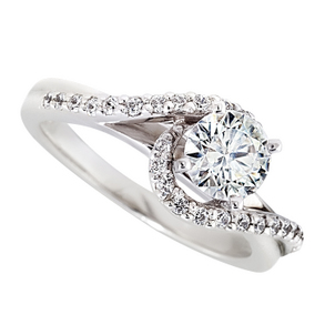 April Birthstone of the Month - Diamond Swirl Engagement Ring-36