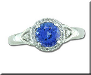 Decembers Birthstone is Tanzanite Tanzanite-and-Diamond-Ring-48