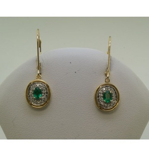 The Emerald: The Jewel of the Ancient World Yellow-Gold-Emerald-with-Rhodium-Diamond-Area-Earrings-46