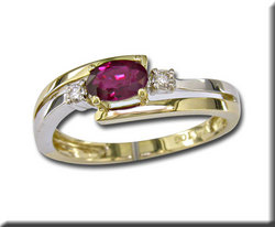Ruby is Julys Birthstone Ruby and Diamond Ring