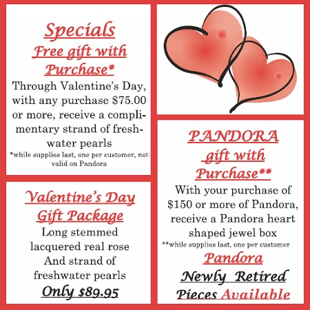 Valentines Day specials - PANDORA, Special Gift package, and more! newsletter-valentines-day-2012-1