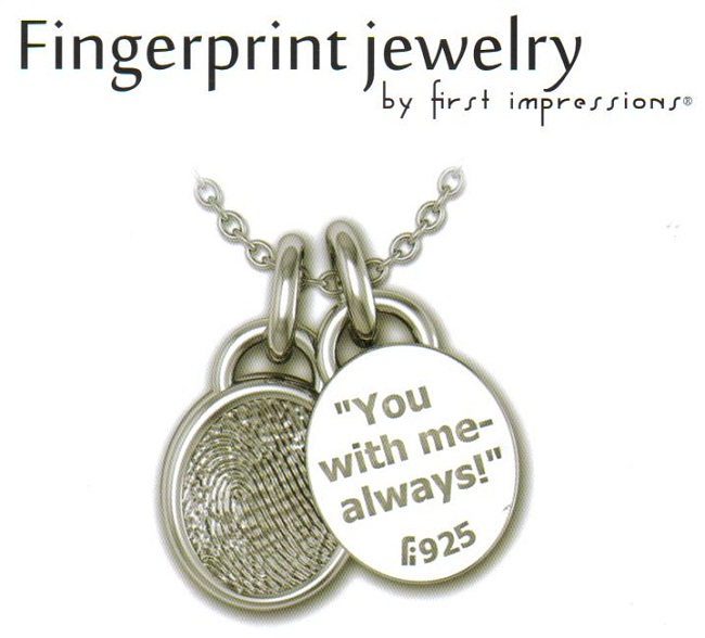 Jewelry first for Fingerprint jewelry by first impressions