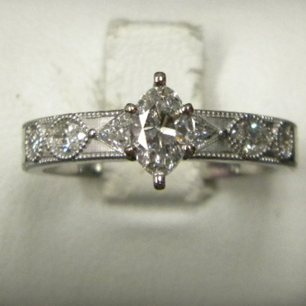 Marquis Diamond Ring Custom74-1-12