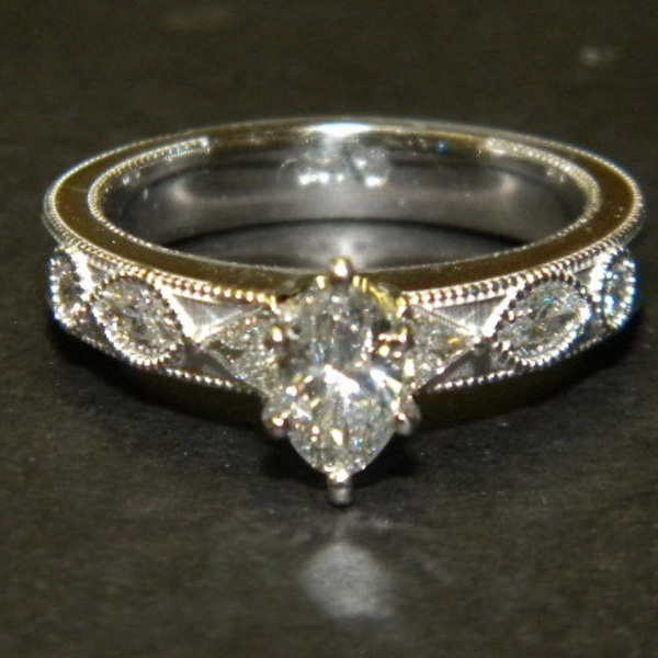 Marquis Diamond Ring Custom74-3-72
