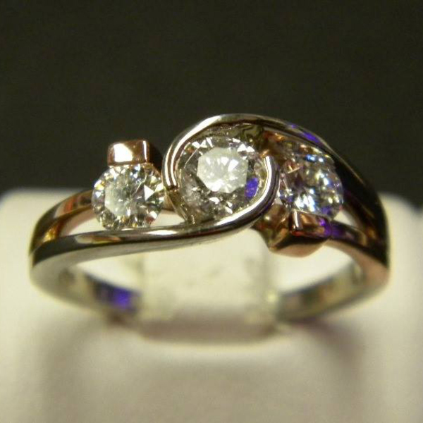 Rose and White Gold Diamond Ring Custom80After-1-85