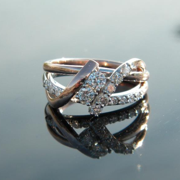 Rose and White Gold Diamond Ring Custom83-After1-28