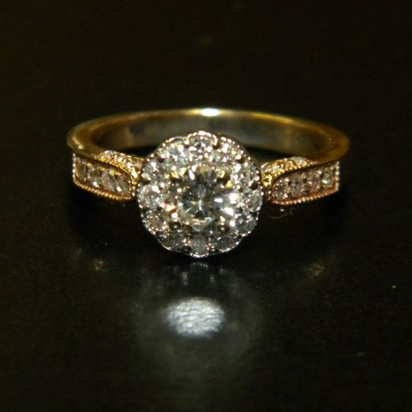 Antique Styled Diamond Halo Ring Custom90After1-29