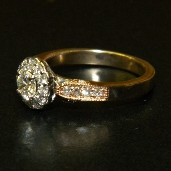 Antique Styled Diamond Halo Ring Custom90After2-50