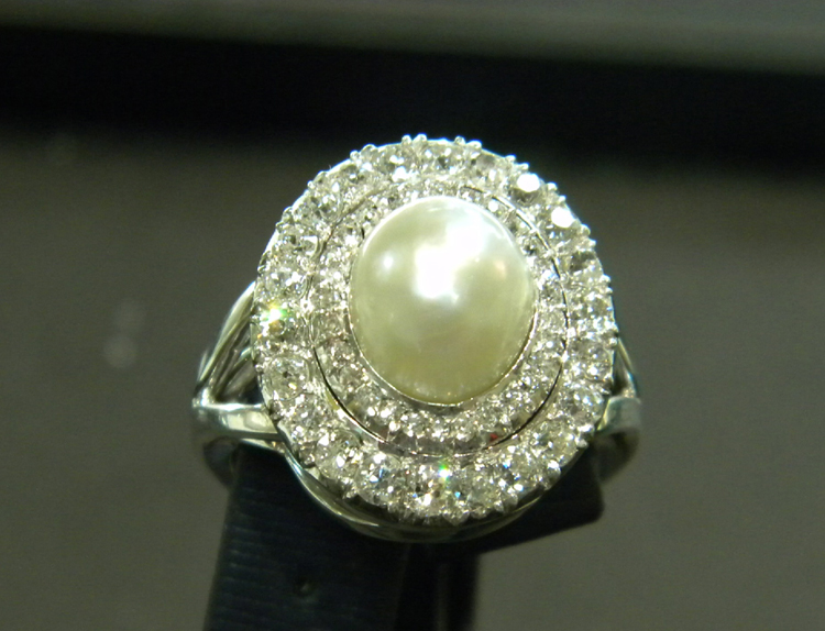 Transformations and Bling Creations diamond and pearl pin-35